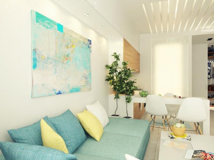 Скандинавский стиль в интерьере однокомнатной квартиры.