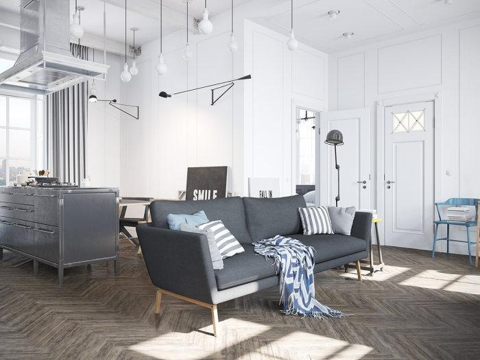 Серый - один их подходящих базовых цветов для интерьера.