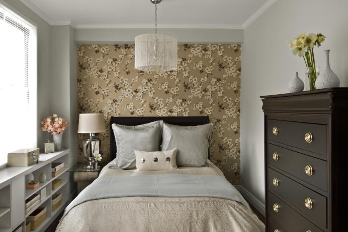 Спальня в неоклассическом стиле.