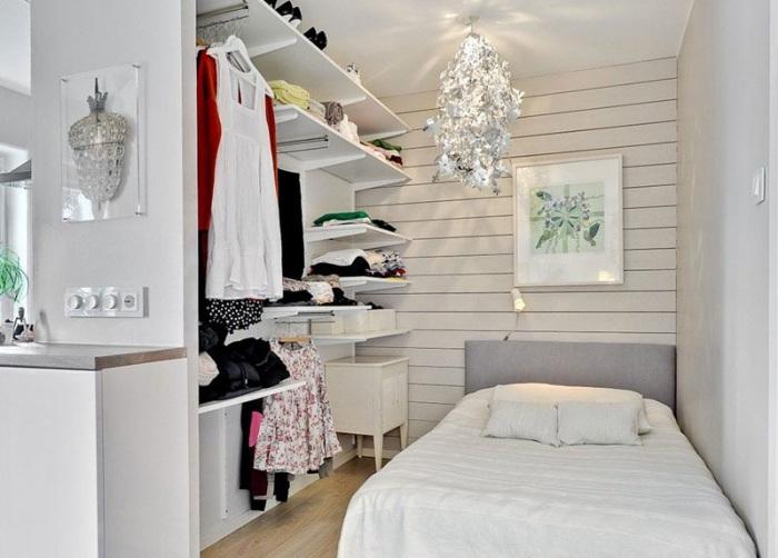 Открытый гардероб.