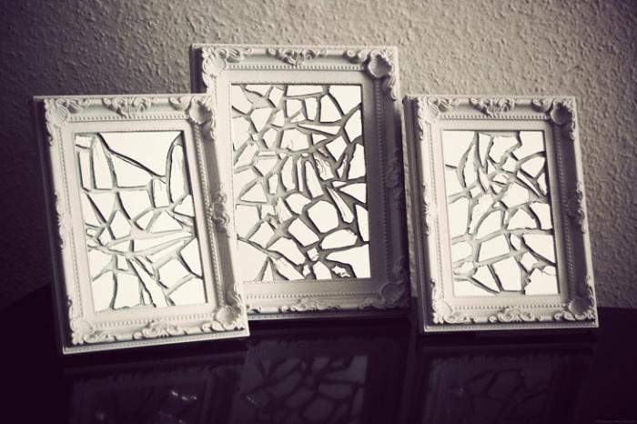 Необычная зеркальная мозаика.