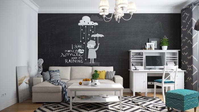 Покрытие стены специальной краской - функциональный декор