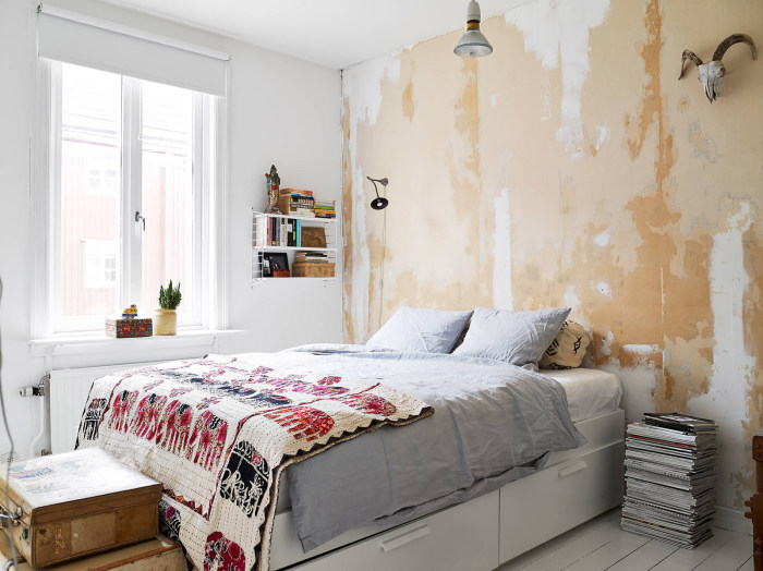 Оригинальная окраска стен.
