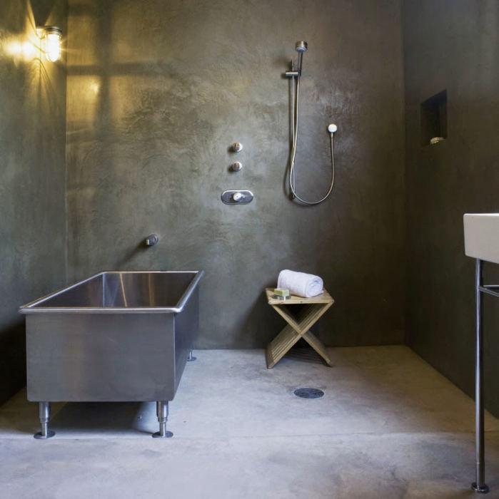 Ванная в стиле лофт.