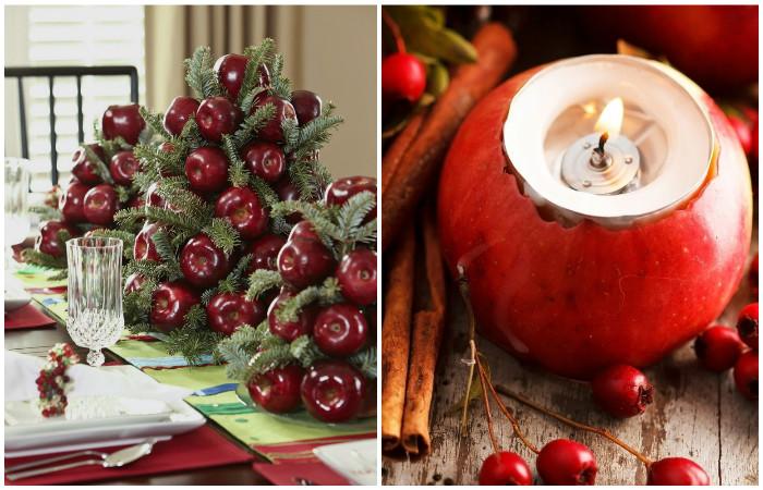 Красный и зеленый - традиционные новогодние цвета.