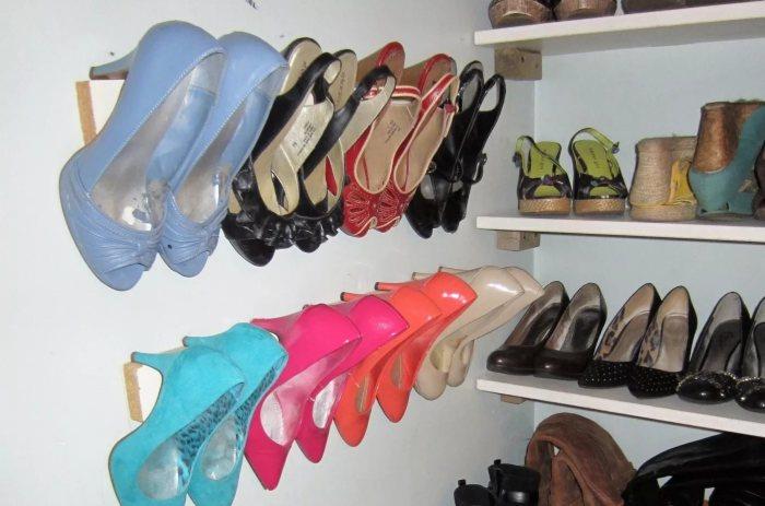 Удобная система хранения для обуви.