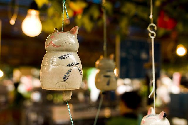 Японский колокольчик фурин для дома можно заменить обычным.