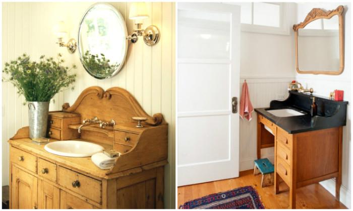 Оригинальная мебель для ванной.