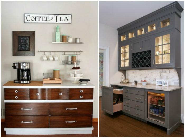 Расширенный комплект мебели на кухне.