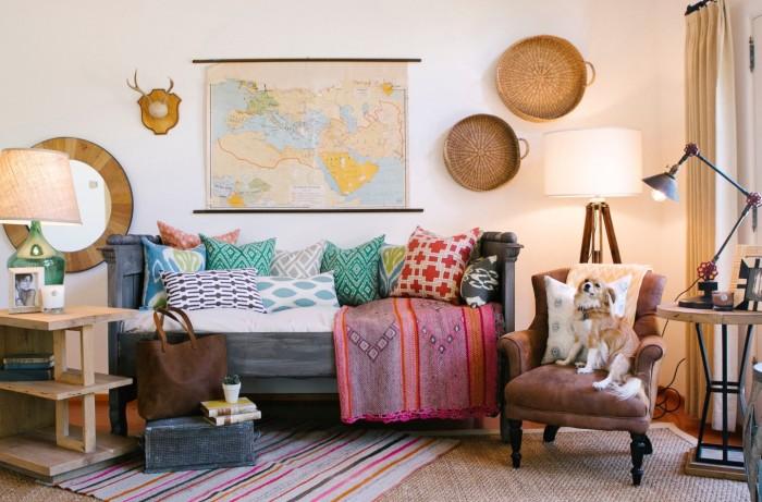 Текстильный декор для уюта в комнате.