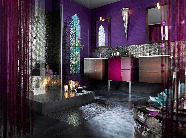 Ванная с элементами этнического стиля.