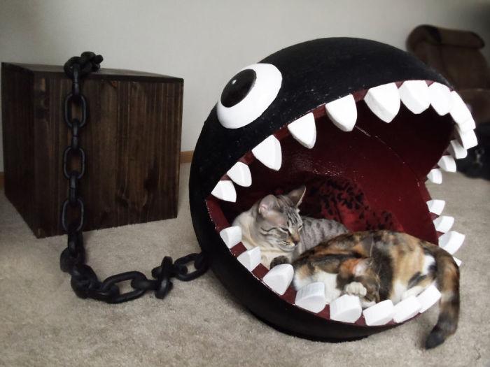 Смешная лежанка для котов.