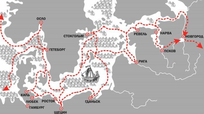 Торговля шла через Ганзейский союз. /Фото: novgorodmuseum.bm.digital.