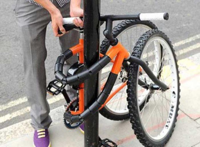 Такой велосипед точно не украдут.