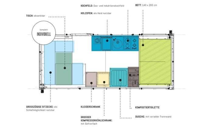 Так выглядит планировка модуля.