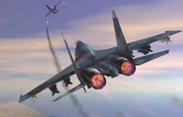 Воздушный бой будущего.