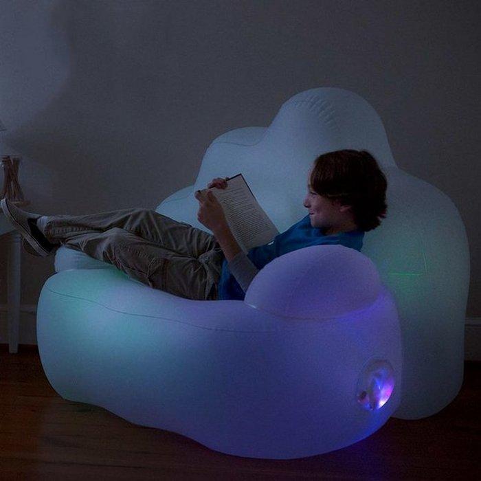 Кресло с LED подсветкой Inflatable Cloud-Soft