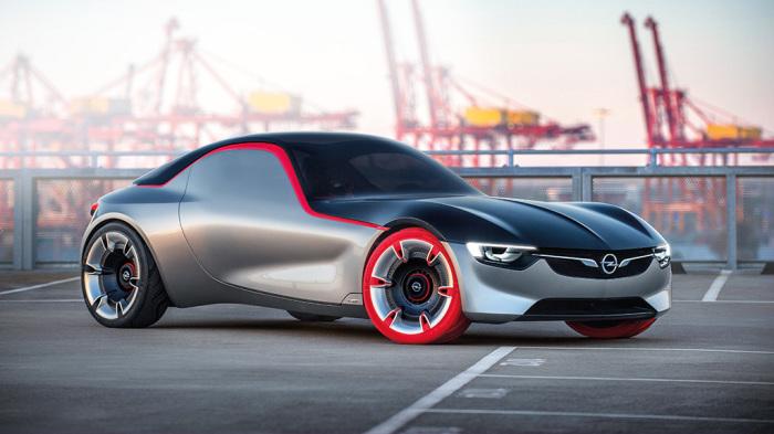 OPEL GT Concept -  концепт, который разгоняется до 216 км/час.