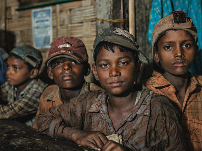 Детский труд на верфях считается нормой.
