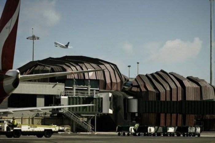Неправильная пирамида аэропорта Веллингтона.