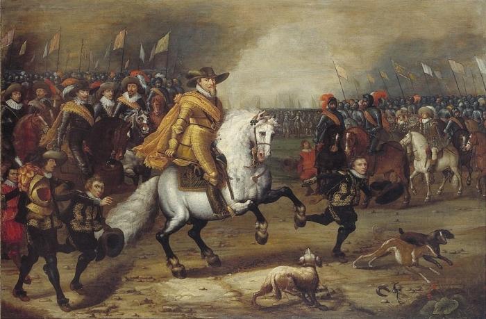 История аксельбанта началась во время Нидерландской революции. /Фото: alternathistory.com.