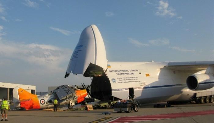 Ан-225 «Мрия» на загрузке.