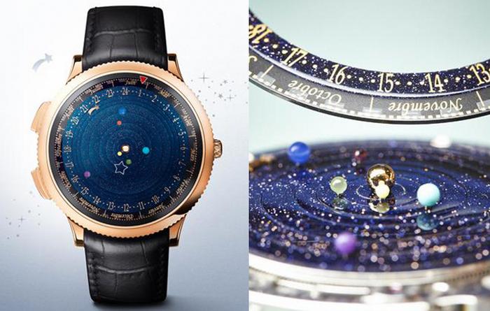 Астрономические часы, отображающие орбиты планет в реальном времени.