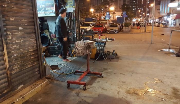 Автомастерская на улице - бизнес по-гонконгски.