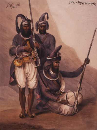 Сикхские воины. /Фото: wikimedia.org.