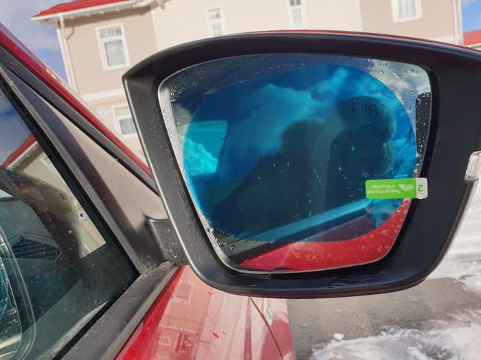 Для защиты зеркала от воды. /Фото: drive2.ru.