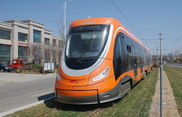 Самый чистый трамвай на планете.