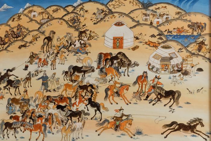 Вслед за воинами орды двигался степной город. /Фото: inform-24.com.
