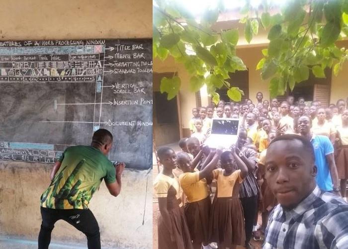 Компания Microsoft подарила компьютеры африканскому учителю, который рисовал Word на доске