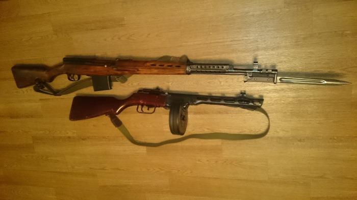 Немалой популярностью пользовалось и советское оружие. /Фото: drive2.ru.