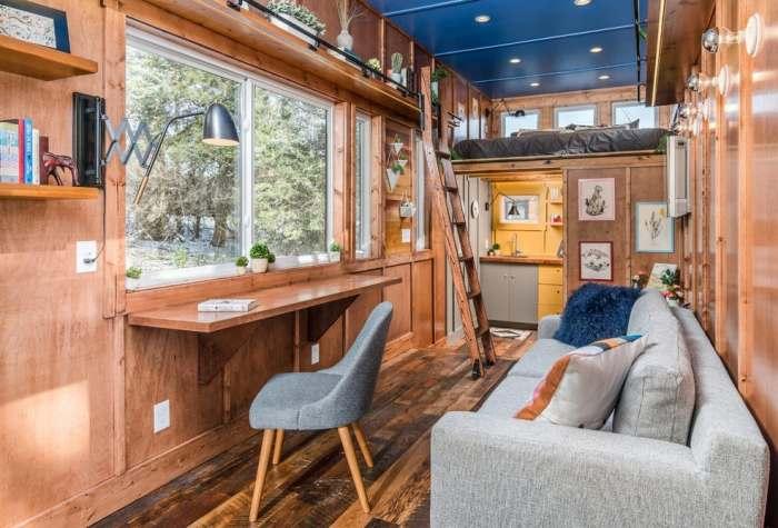 Компактный дом от New Frontier Tiny Homes. Интерьер.