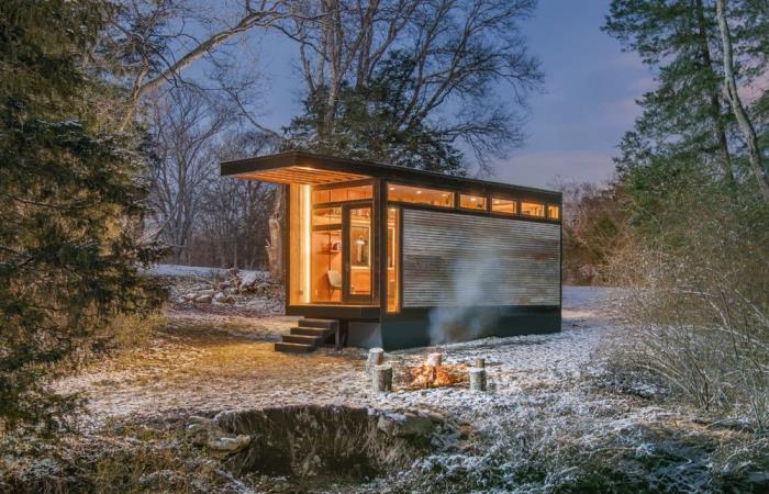 Компактный домик для дачи.