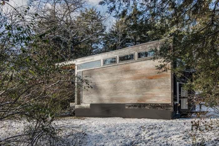 Крошечный дом размером с контейнер.