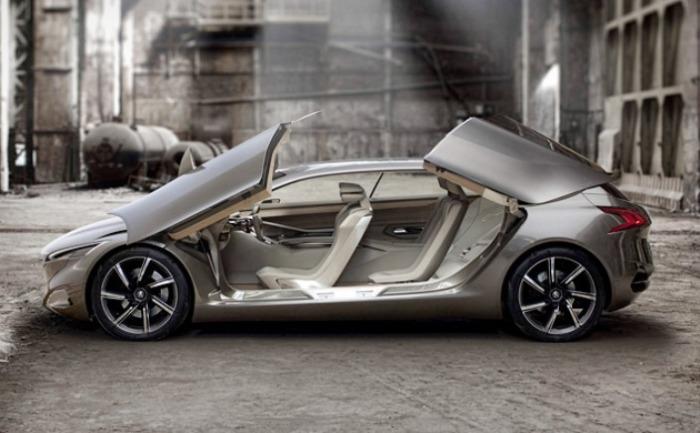Интересная концепция Peugeot HX1 с красивыми дисками.