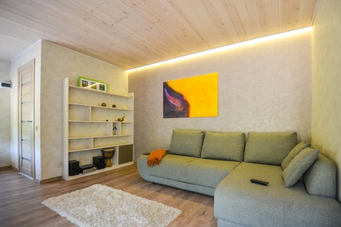 Внутри дом организован, как студия.