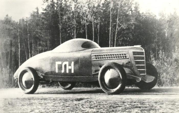 Первый советский гоночный автомобиль.