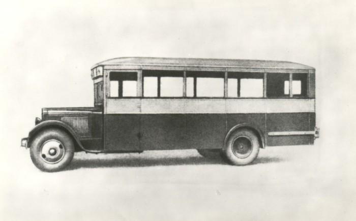 Советский городской автобус ЗИС-8.