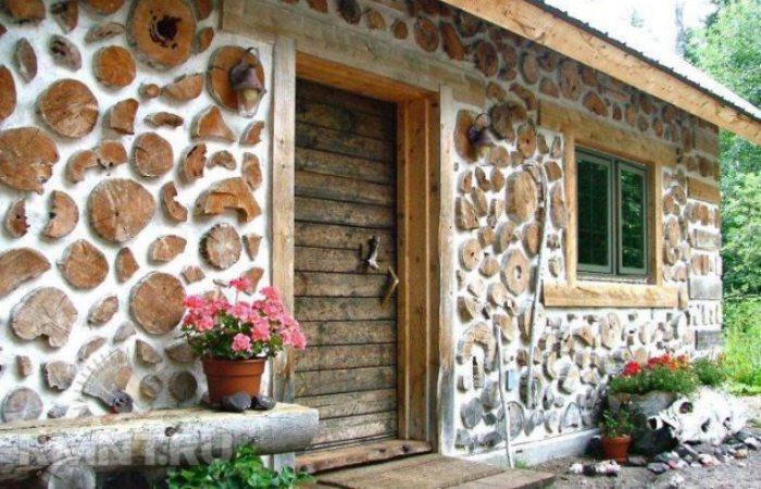 Отличный дом из дров.
