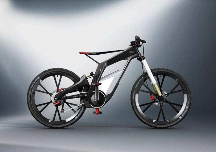 Не менее роскошная модель Audi e-bike.