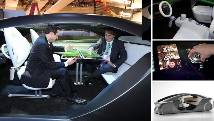 Автомобильный салон будущего от Panasonic.