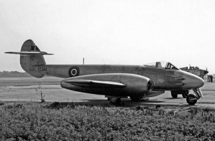 Британский долгожитель Gloster Meteor.