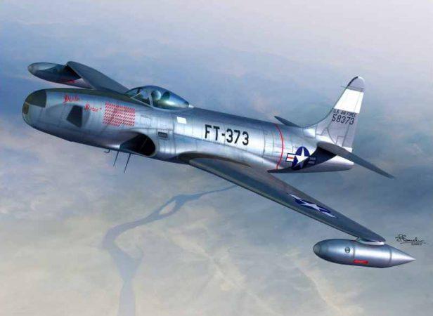 Американский Lockheed F-80 Shooting Star успел только к следующей войне.