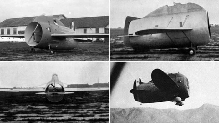 Очень необычный самолет-бочка Stipa-Caproni.