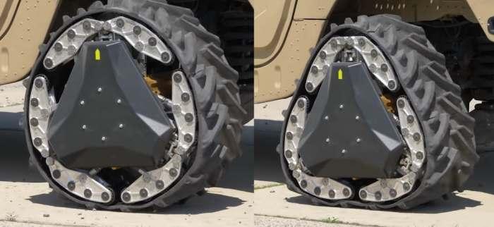Колеса-гусеницы для боевых машин.