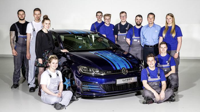 Гибридный VW Golf GTI: мы строили-строили, и наконец, построили.