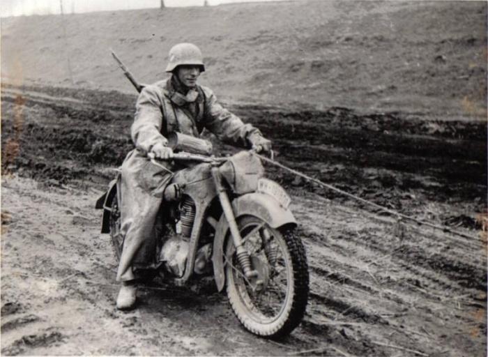 Самый массовый мотоцикл вермахта. /Фото: reibert.info.
